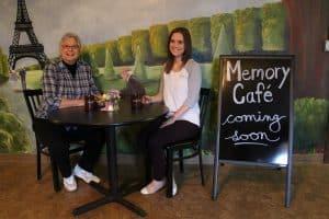 Memory Cafe. Linda and Whitney