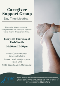 Caregiver Support Group – Day Time @ Green County Human Services | Monroe | Wisconsin | United States